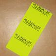 Custom Print Fluoro Pallet Labels 75mmx100mm