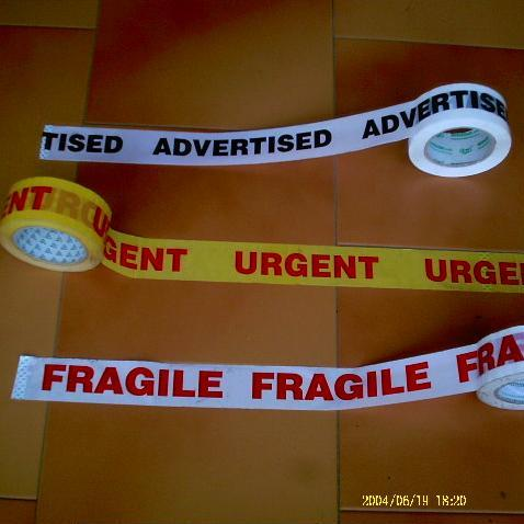 Fragile Warning Adhesive Tape
