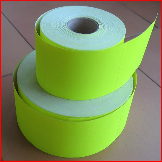 Blank Fluoro Pallet Labels 75mmx100mm Rubber adhesive