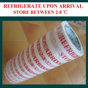 Refrigerate Warning Adhesive Tape